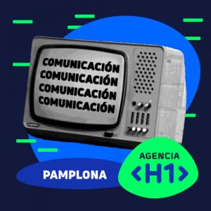 Televisión simulando la comunicación en Pamplona