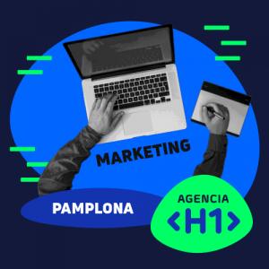 Personal de Marketing trabajando en una camapañ para una empresa de Pamplona