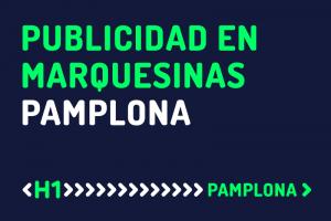 Publicidad en marquesinas de Pamplona